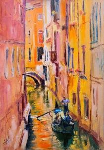 Italie. Venise en couleurs chaudes.