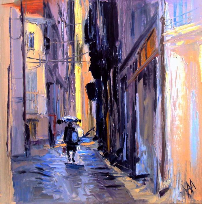 Portugal. Coimbra. Pluie.