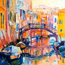 Italie. Pont à Venise.