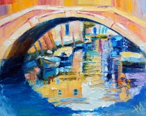 Venise. Pont. Refléxions.