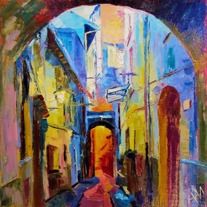 Italie. Rue. Lumière et couleur.