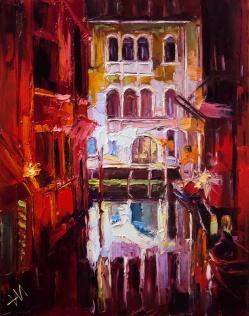 Lumière de Venise nocturne.