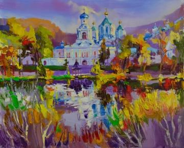 Ukraine. L'automne à Sviatogorsk.