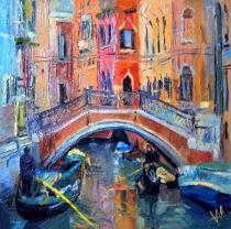 Italie. Venise. Pont.