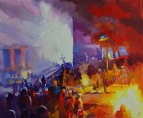 Les feux de Maïdan.