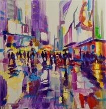 Nikita Manokhin. Times Square. La pluie.