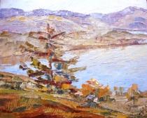 Un lac dans les montagnes