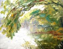 Penché sur la rivière