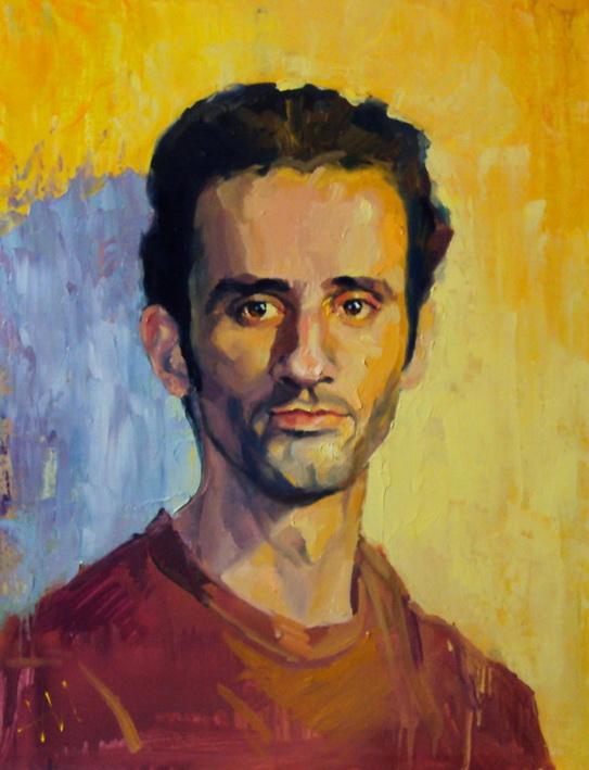 Portrait, huile sur bois