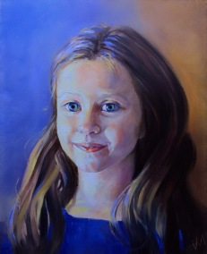 Portrait, huile sur toile