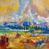 Ukraine. Mariupol. Industrie.