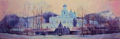 Svyatogorsk. L'hiver. Panorama.