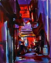 """""""Dans l'obscurité."""", oeuvre impressionniste contemporaine de Nikita Manokhin"""