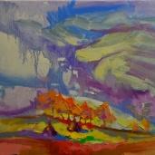 """Matin dans les Carpates."", oeuvre impressionniste contemporaine de Nikita Manokhin"