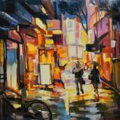 Rue à Tokyo, rue japonaise, Japanese street, evening in Tokyo