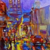 """""""Soirée en Équateur."""", oeuvre impressionniste contemporaine de Nikita Manokhin"""