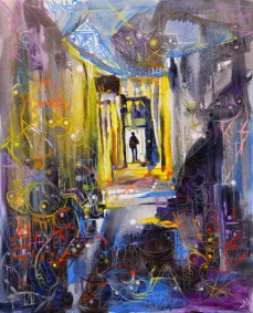 """Le chemin."", oeuvre contemporaine abstraite de Nikita Manokhin"