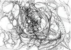 """Pulsation."", oeuvre graphique contemporaine de Nikita Manokhin"