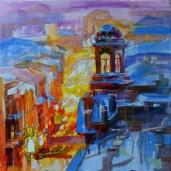 """Soir hivernal."", oeuvre impressionniste contemporaine de Nikita Manokhin"