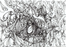"""Tension."", oeuvre graphique contemporaine de Nikita Manokhin"