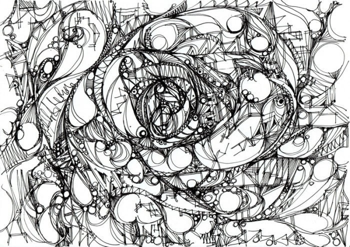 """""""Vagabondage."""", oeuvre graphique contemporaine de Nikita Manokhin"""