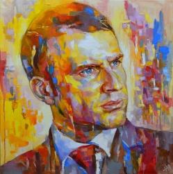 """Emmanuel Macron. Regard vers l'avenir."", portrait d'Emmanuel Macron"