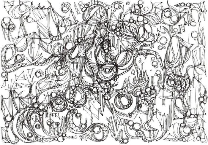 """Retour."", oeuvre graphique contemporaine de Nikita Manokhin"