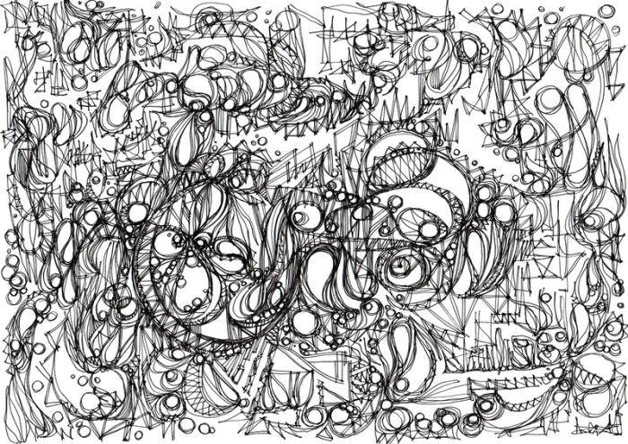 """""""Silence."""", oeuvre graphique contemporaine de Nikita Manokhin"""