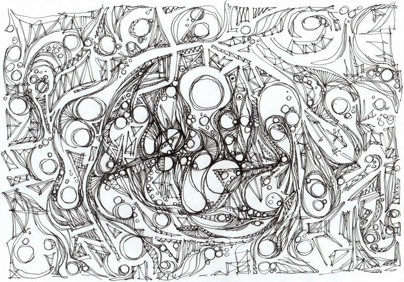 """Voyage."", oeuvre graphique contemporaine de Nikita Manokhin"