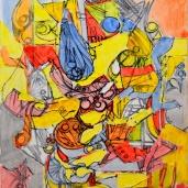 """""""Flottement."""", oeuvre contemporaine abstraite de Nikita Manokhin"""