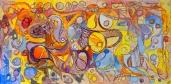 """""""L'été."""", oeuvre contemporaine abstraite de Nikita Manokhin"""