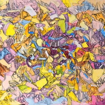 """Toile d'émotions."", oeuvre contemporaine abstraite de Nikita Manokhin"