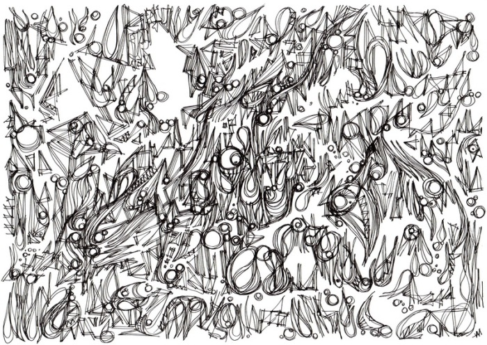 """Danse."", oeuvre graphique contemporaine de Nikita Manokhin"