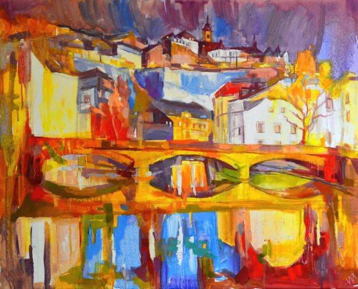 """Soir à Luxembourg."", oeuvre impressionniste contemporaine de Nikita Manokhin"