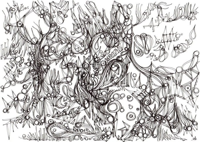 """Vivacité."", oeuvre graphique contemporaine de Nikita Manokhin"