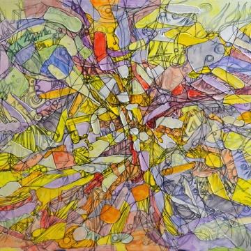 Tableau abstrait, peinture ornementale, abstractionnisme ornemental