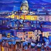 Edinburgh University, tableau d'Édimbourg, urban art, painting Scotland