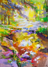 tableau de Gerardmer, paysage de Gerardmer, vue des Vosges