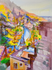 Herbst Heidelberg, automne en Allemagne, tableau de Heidelberg