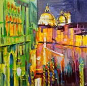 Tableau de Venise, artwork Venice, Grand Canal, Venice at night