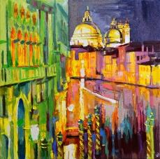 Tableau de Venise, artwork Venice, Grand Canal, Venice at night