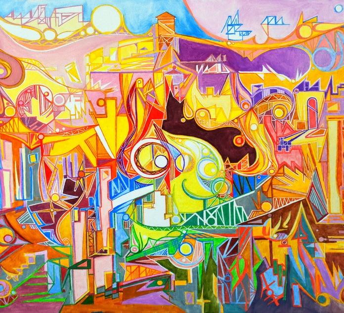 Forum romain, oeuvre abstraite, oeuvre contemporaine, ornamental art, abstract artwork